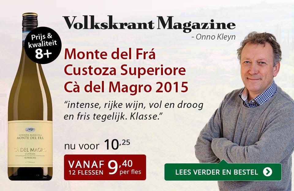 Volkskrant Magazine: Monte del Fra Ca del Magro - rood