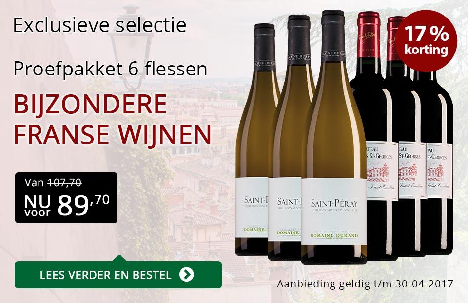 Proefpakket bijzondere franse wijnen (89,70) - rood