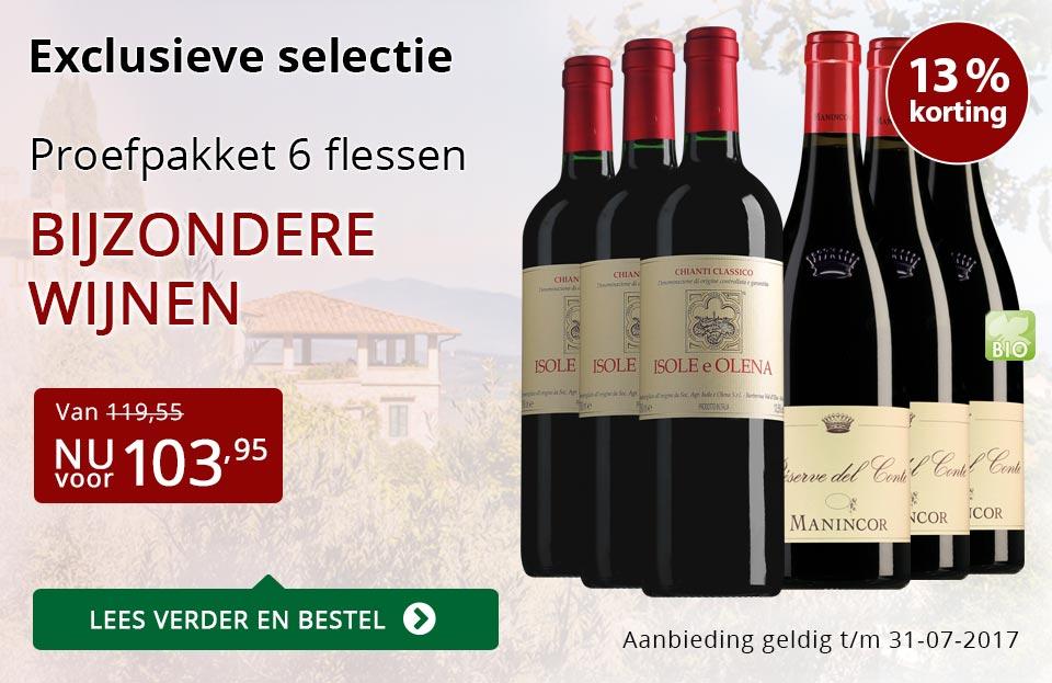 Proefpakket bijzondere wijnen juli (103,95) - rood