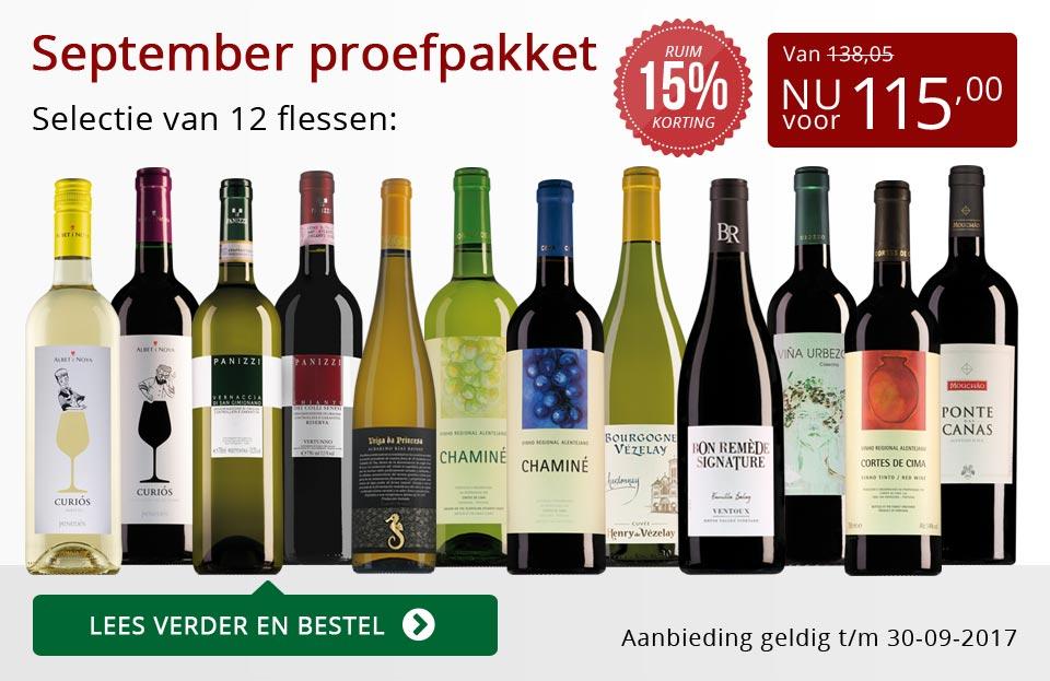 Proefpakket wijnbericht september 2017 (115,00) - rood