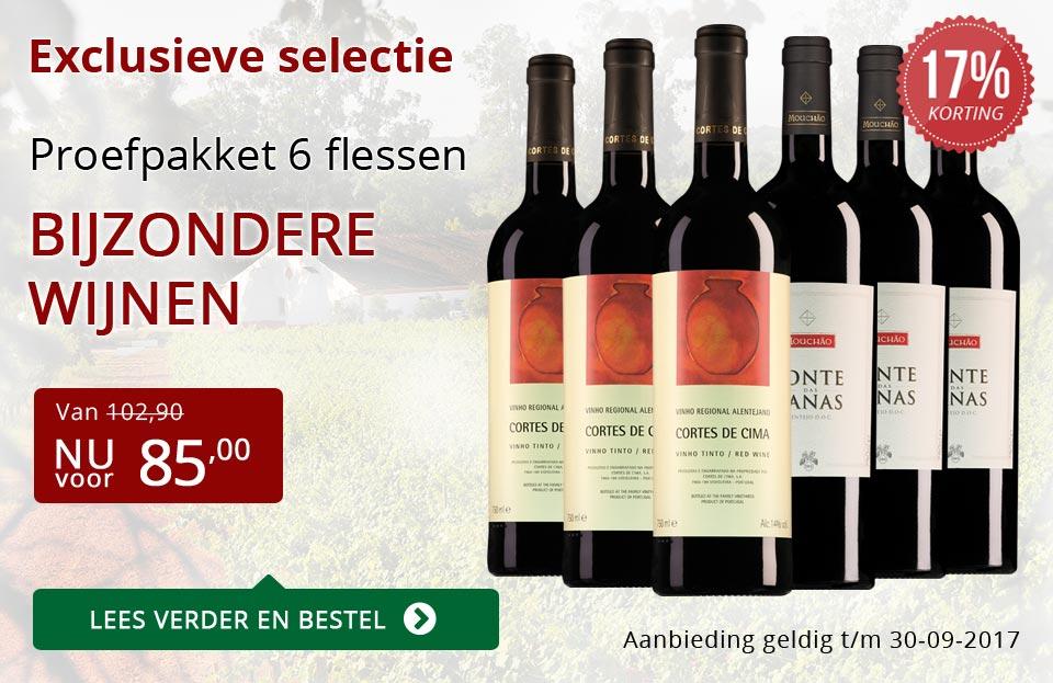 Proefpakket bijzondere wijnen september 2017 (85,00) - rood