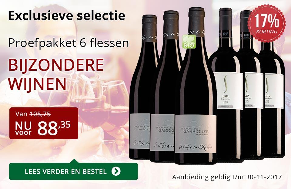 Proefpakket bijzondere wijnen november 2017 (88,35) - rood
