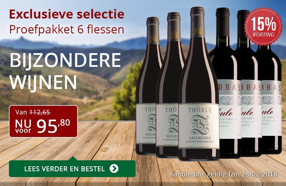 Proefpakket bijzondere wijnen februari 2018 (95,80) - rood