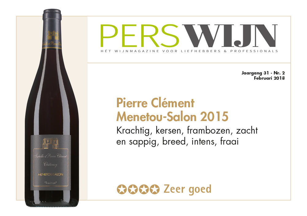 Domaine cl ment noordman wijnen for Menetou salon 2012