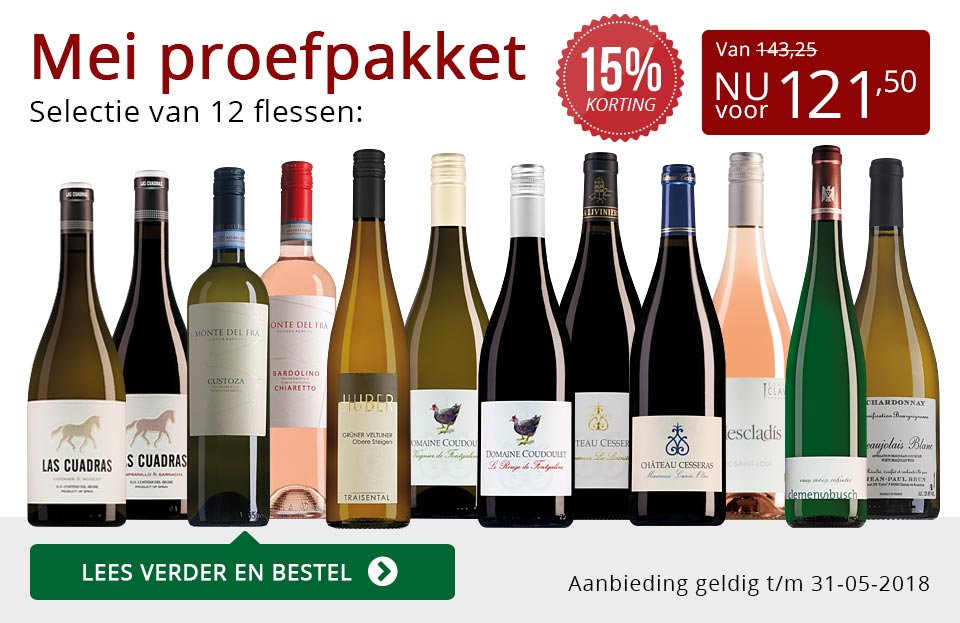 Proefpakket wijnbericht mei 2018 (121,50) - rood