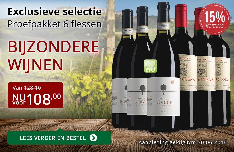 Proefpakket bijzondere wijnen juni 2018 (108,00) - rood