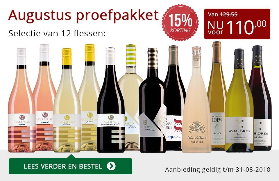 Proefpakket wijnbericht augustus 2018 (110,00) - rood