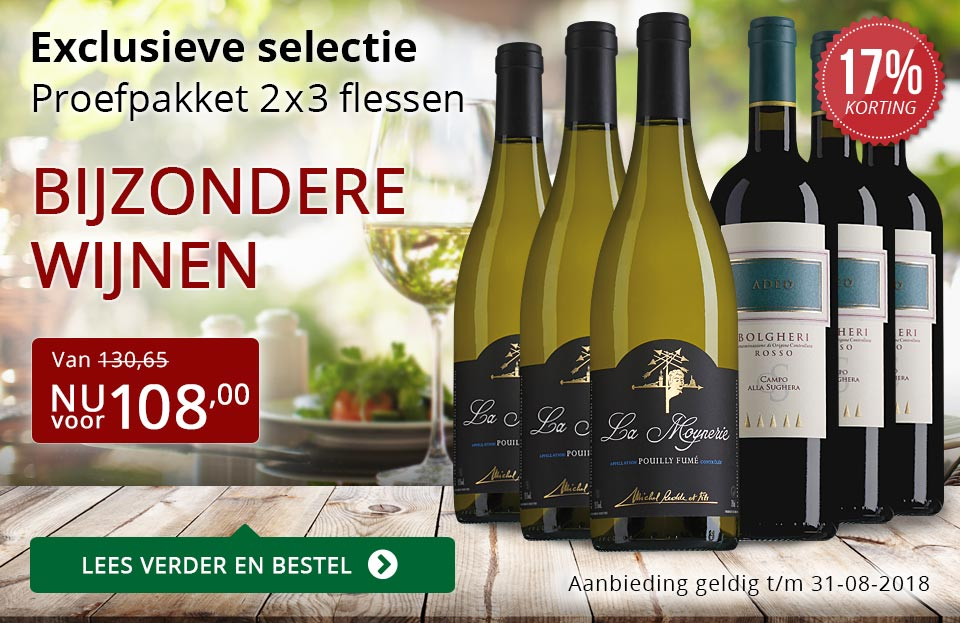 Proefpakket bijzondere wijnen augustus 2018 (108,00) - rood