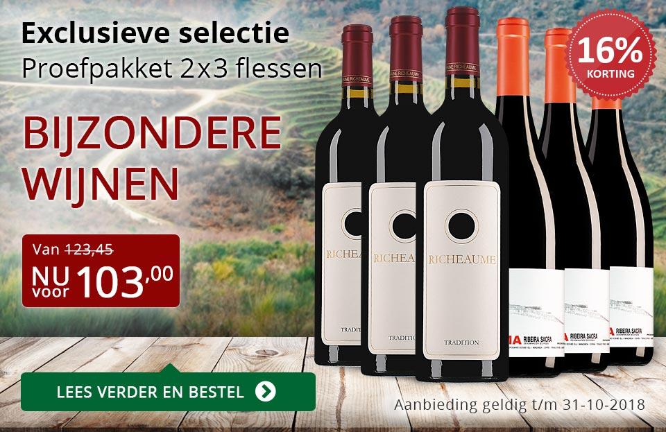 Proefpakket bijzondere wijnen oktober 2018 (103,00) - rood