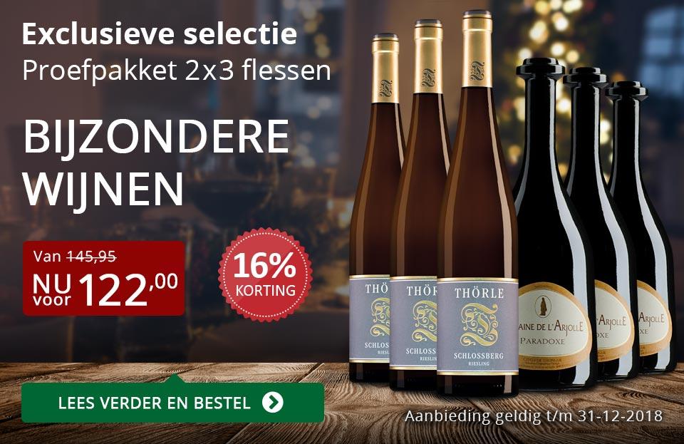 Proefpakket bijzondere wijnen december 2018 (122,00) - rood