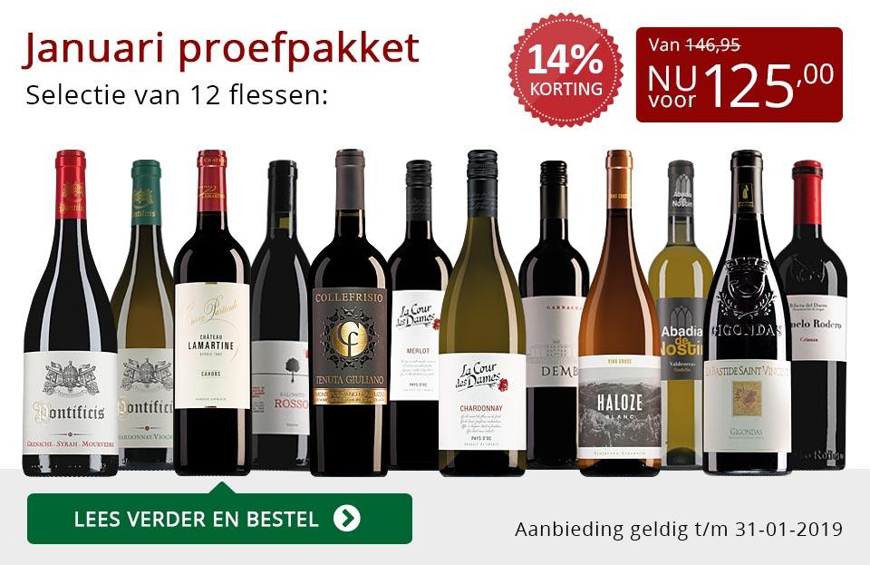 Proefpakket wijnbericht januari 2019 (125,00) - rood