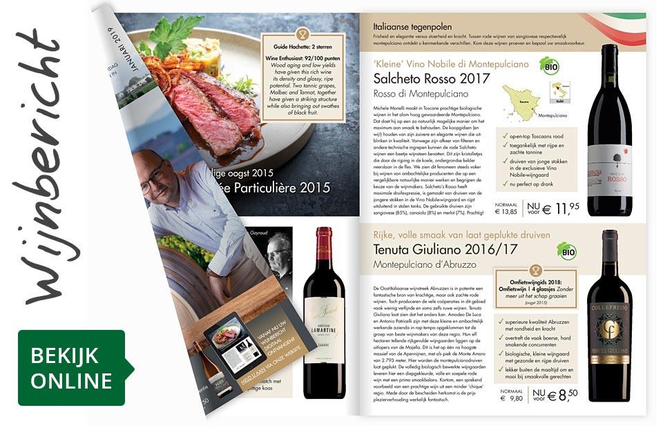Online wijnbericht januari 2019