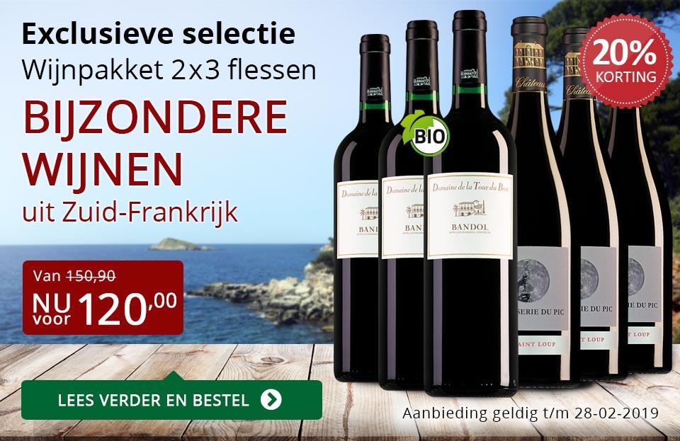 Wijnpakket bijzondere wijnen februari 2019 (120,00) - rood