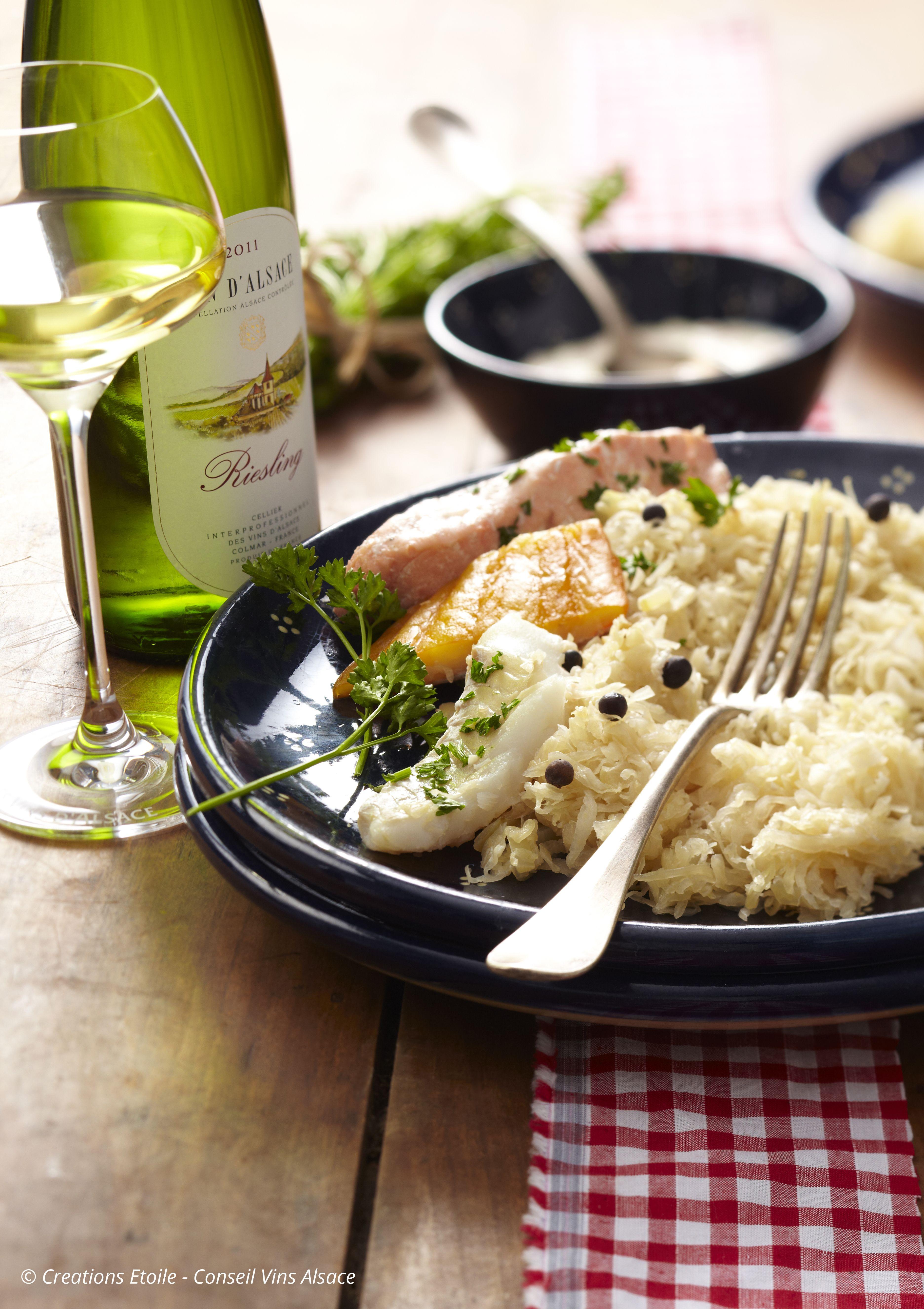 Choucroute d'Alsace met vis
