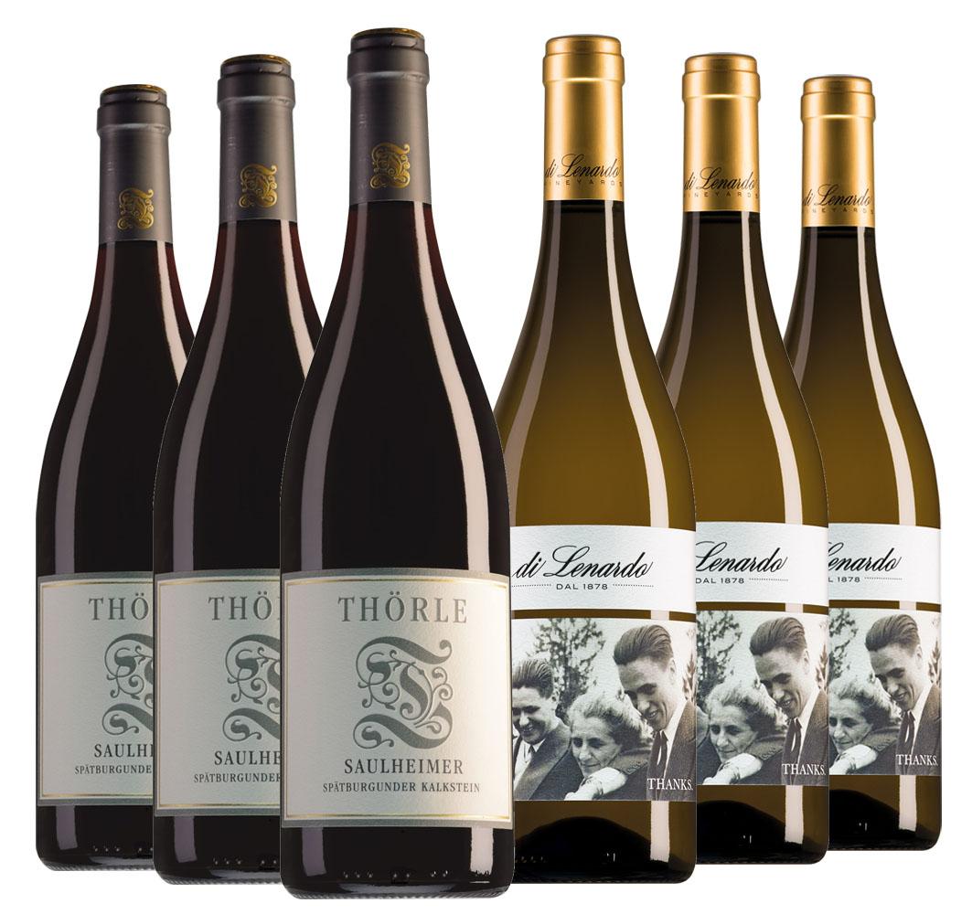 Wijnpakket bijzondere wijnen juni (2x3 flessen)