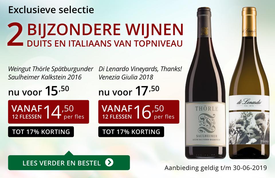 Twee bijzondere wijnen juni 2019 - rood