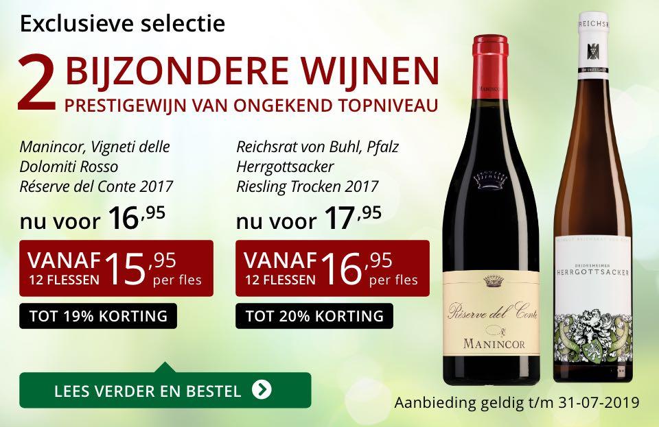 Twee bijzondere wijnen juli 2019- rood