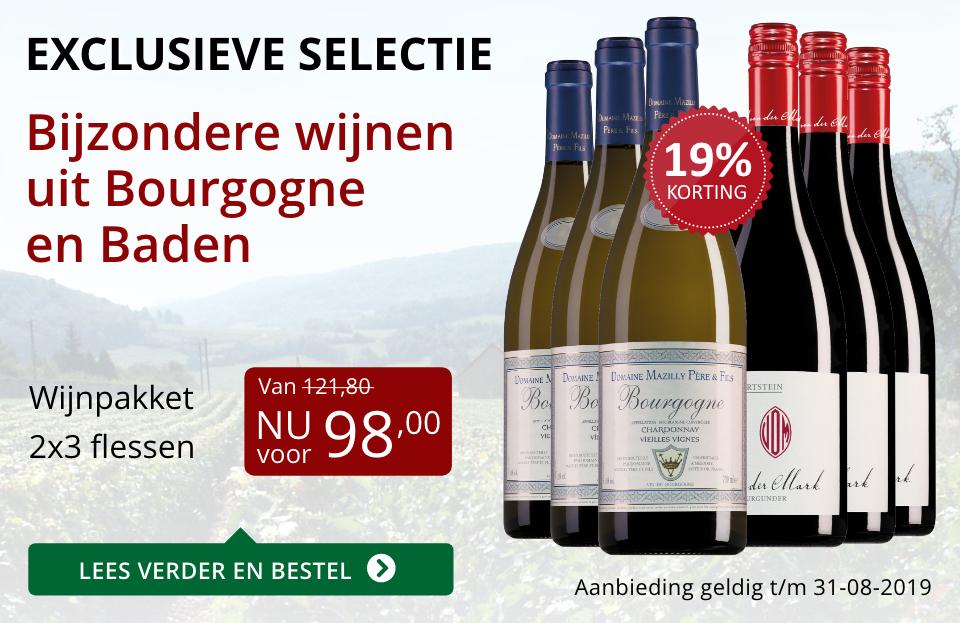 Wijnpakket bijzondere wijnen augustus2019 (98,00) - rood
