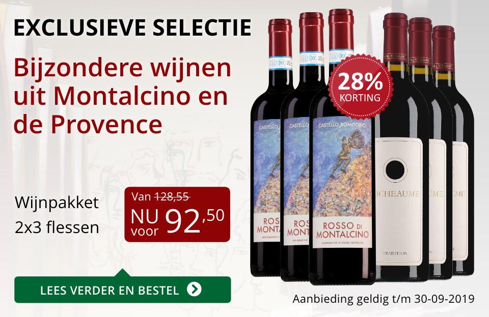 Wijnpakket bijzondere wijnen september 2019 (92,50)- rood