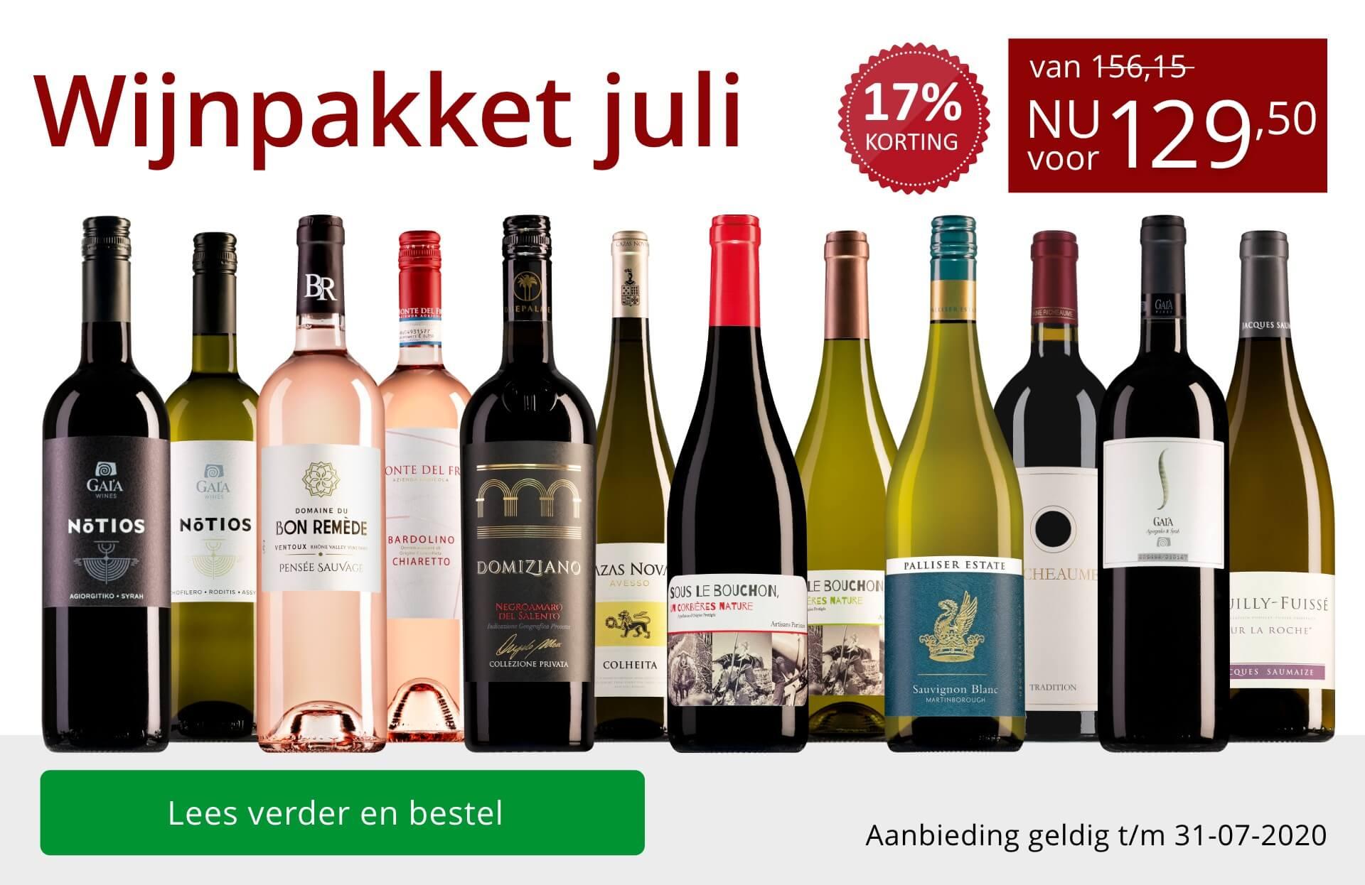 Wijnpakket wijnbericht juli 2020(129,50)-rood