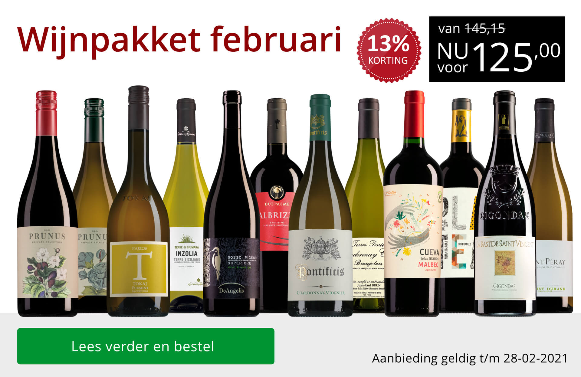 Wijnpakket wijnbericht februari 2021(125,00)-rood