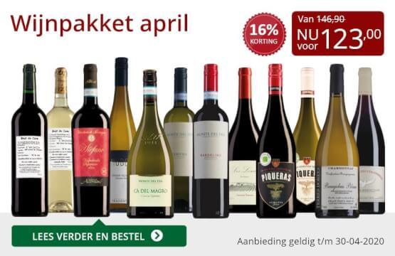Wijnpakket wijnbericht april 2020(123,00)-rood